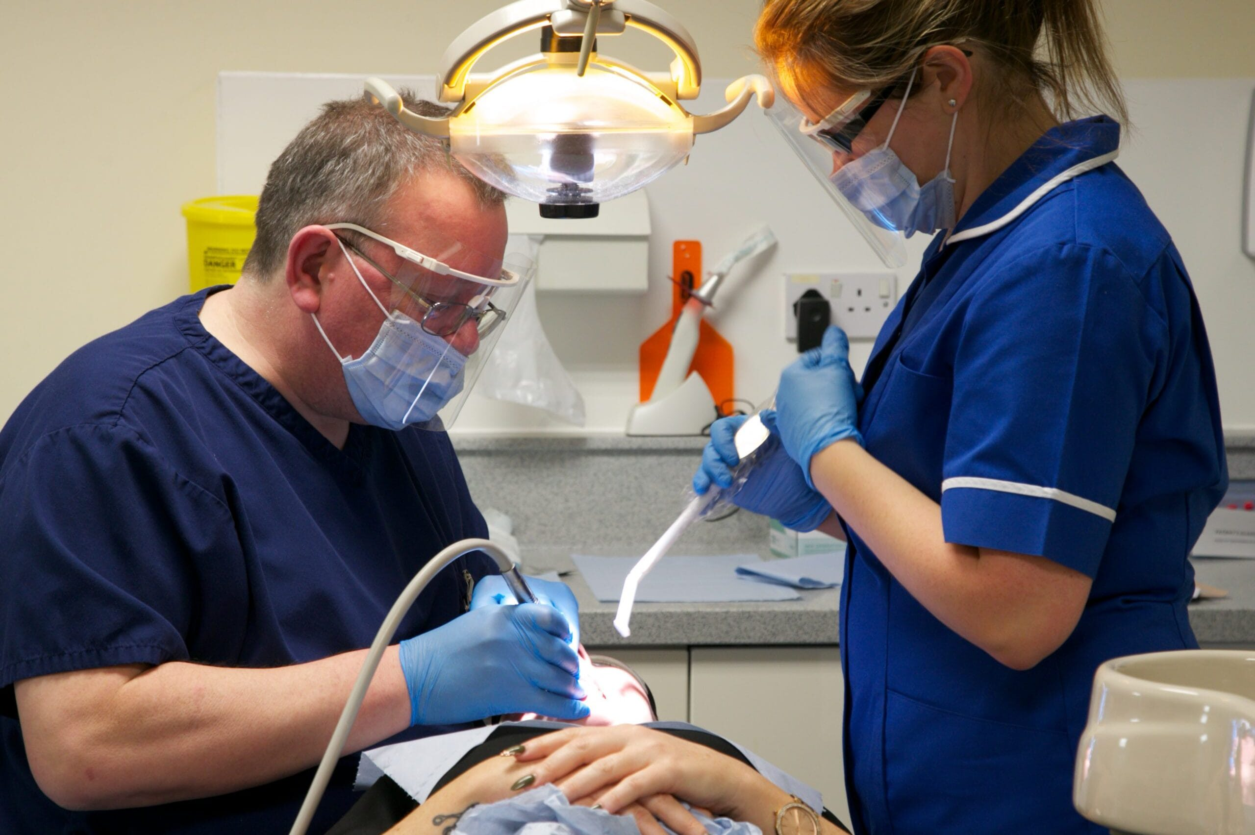 Dentist and dental nurse