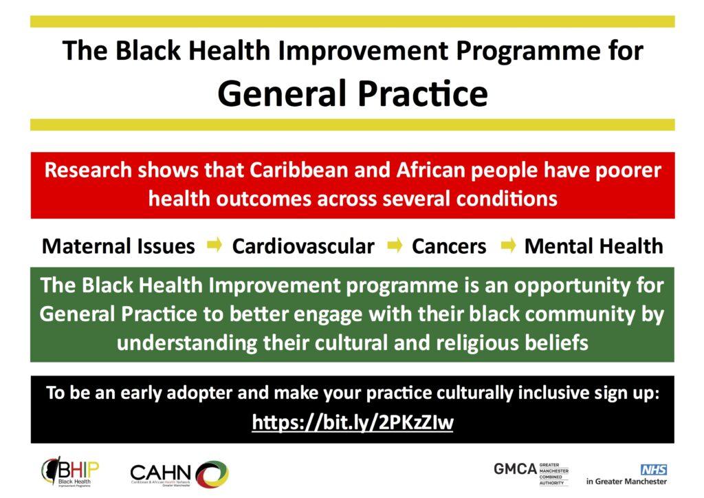 Black Health Improvement Programme (BHIP) offer